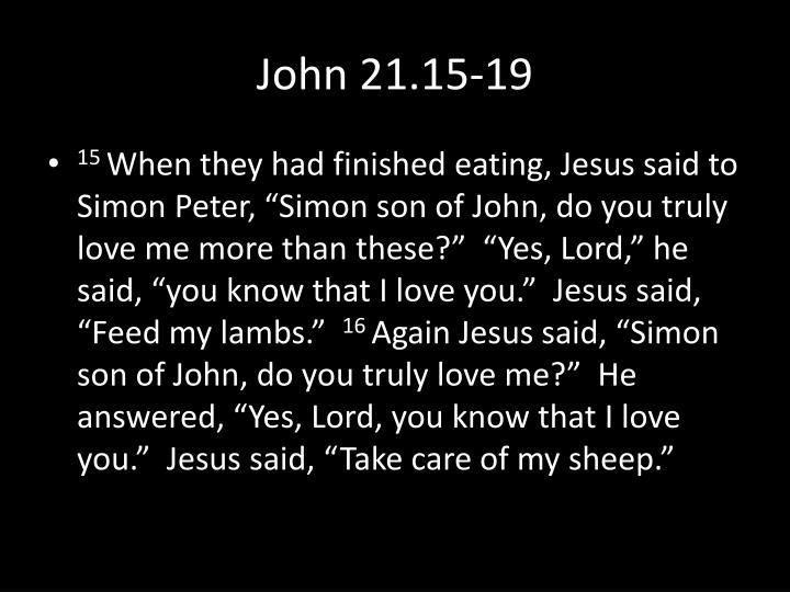 John 21 15 19