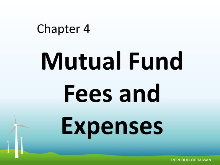 mutual fund fees and expenses n.