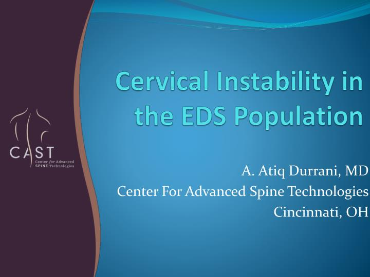cervical instability in the eds population n.