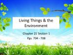 living things the environment
