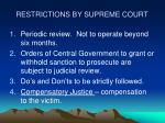restrictions by supreme court