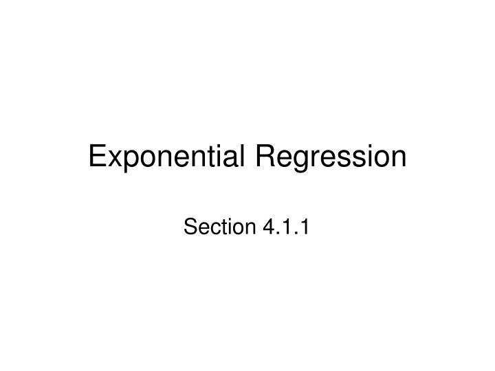 exponential regression n.