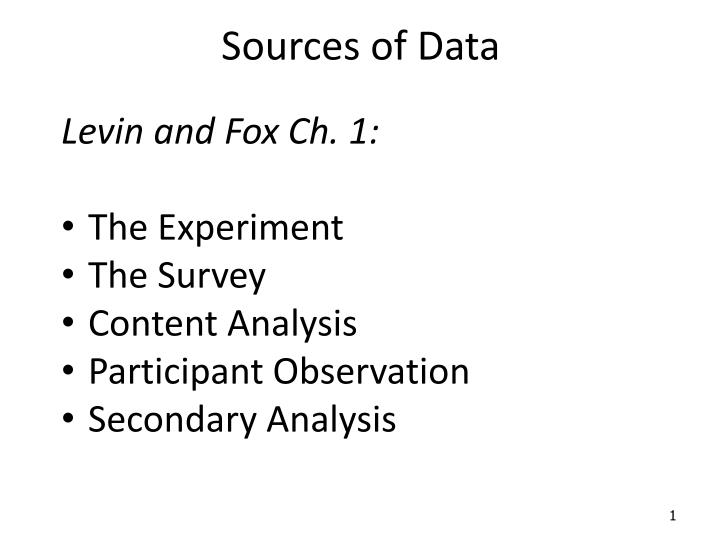 sources of data n.