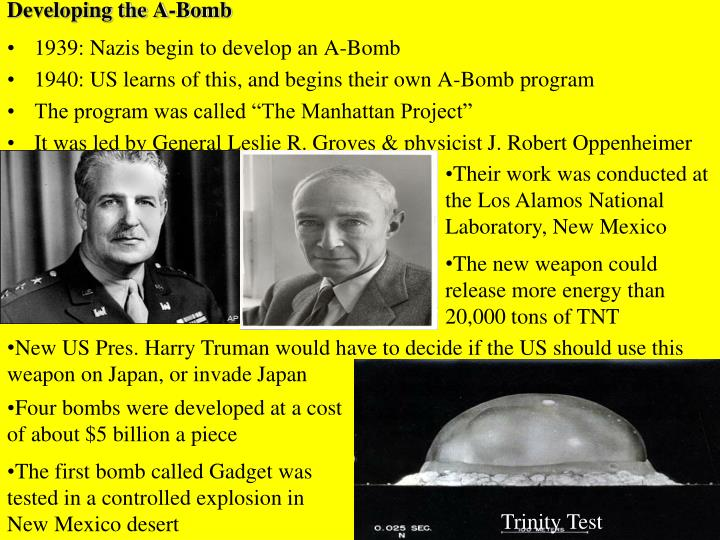 Developing the A-Bomb