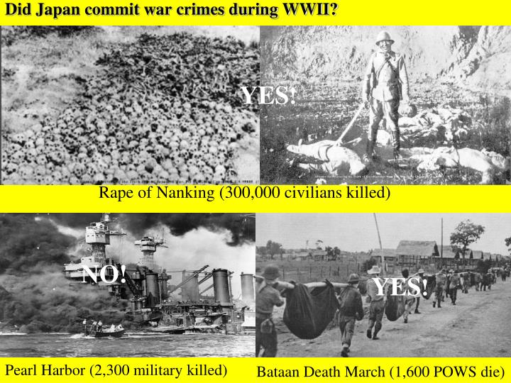 Did japan commit war crimes during wwii