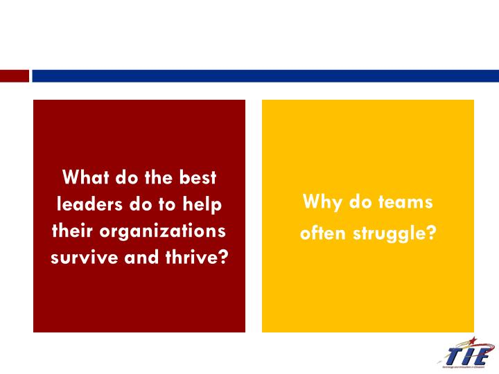 What do the best leaders do to help their organizations