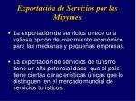 exportaci n de servicios por las mipymes