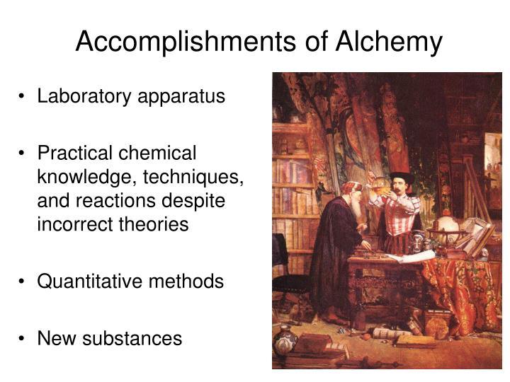 Accomplishments of Alchemy