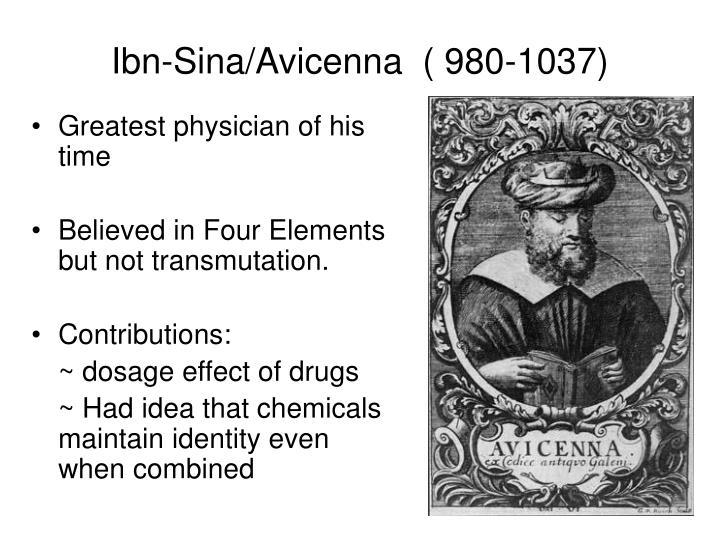 Ibn-Sina/Avicenna  ( 980-1037)
