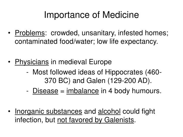 Importance of Medicine