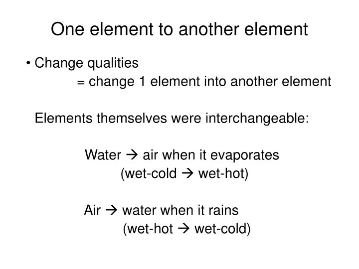 One element to another element