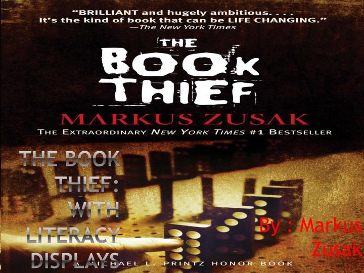 The book thief with literacy displays