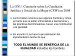 la onu comisi n sobre la condici n jur dica y social de la mujer csw en 20051
