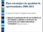 plan estrat gico de igualdad de oportunidades 2008 2011