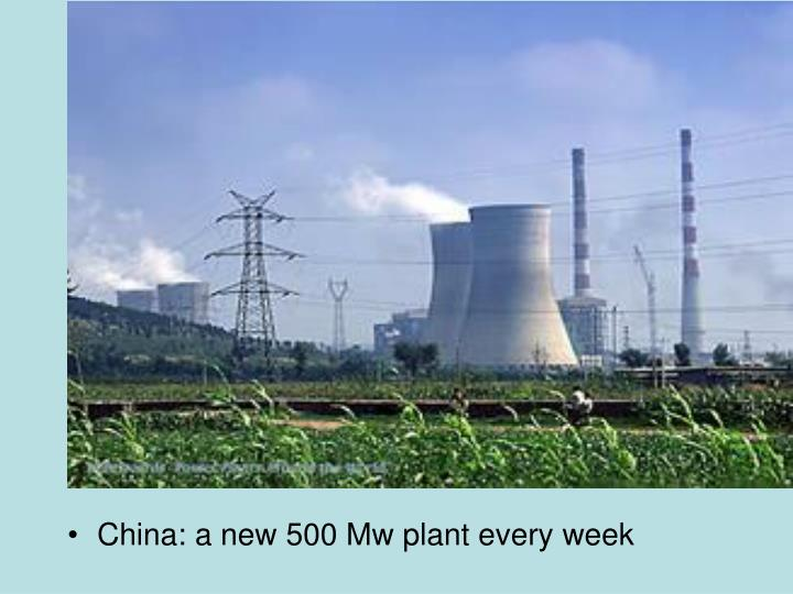 China: a new 500 Mw plant every week