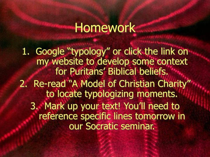 Google Typology Or Click The Link On My Website To Develop Some Context For Puritans Biblical Beliefs Re Read A Model Of Christian Charity