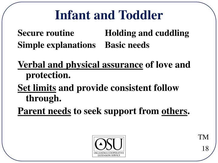 Infant and Toddler