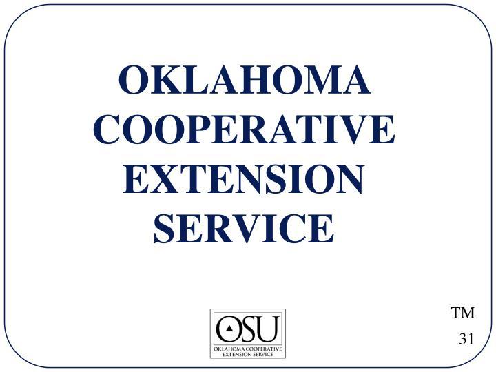OKLAHOMA COOPERATIVE EXTENSION SERVICE