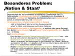 besonderes problem nation staat