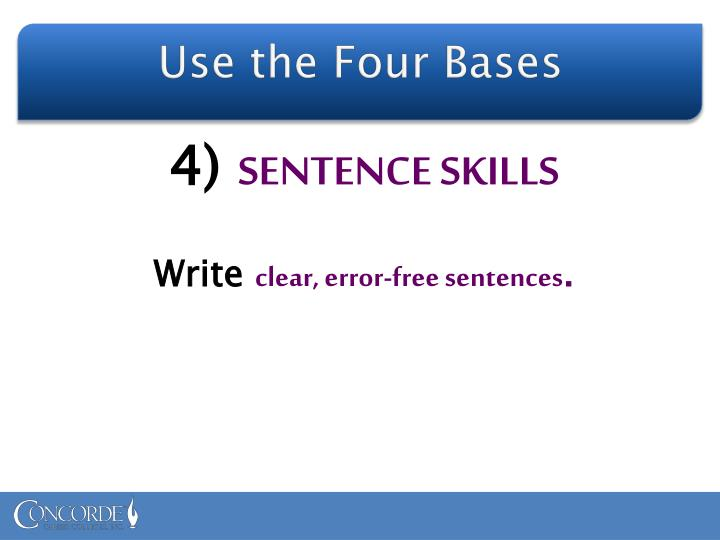 Use the Four Bases