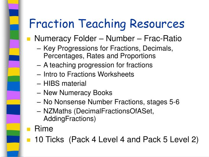 Fraction Teaching Resources