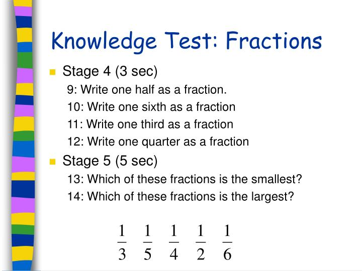 Knowledge Test: Fractions
