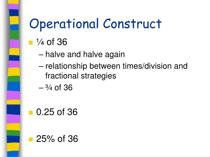 Operational Construct