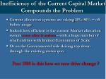 inefficiency of the current capital market compounds the problem