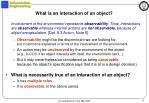 what is an interaction of an object