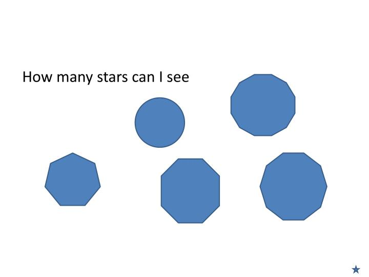 How many stars can I see