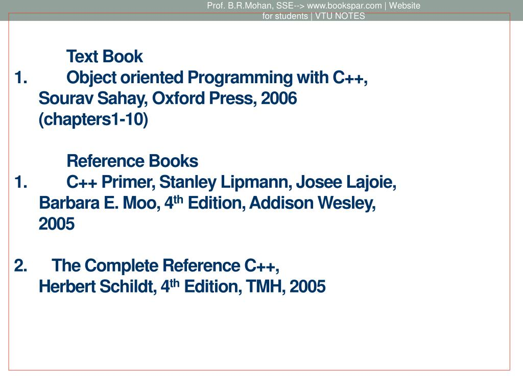 PPT - OBJECT ORIENTED PROGRAMMING WITH C++ PowerPoint