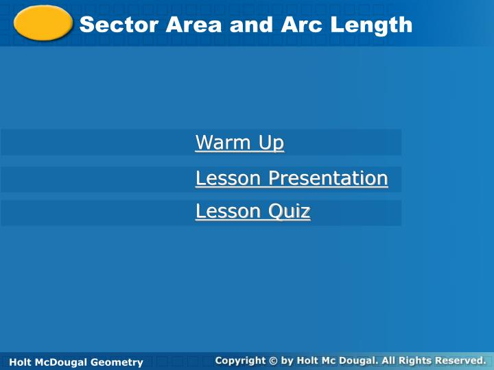 PPT - Sector Area and Arc Length PowerPoint Presentation - ID:6191957