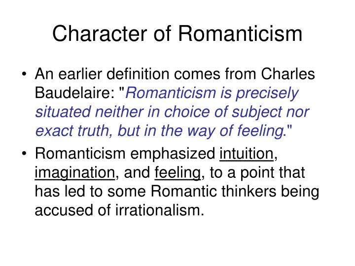 Character of Romanticism
