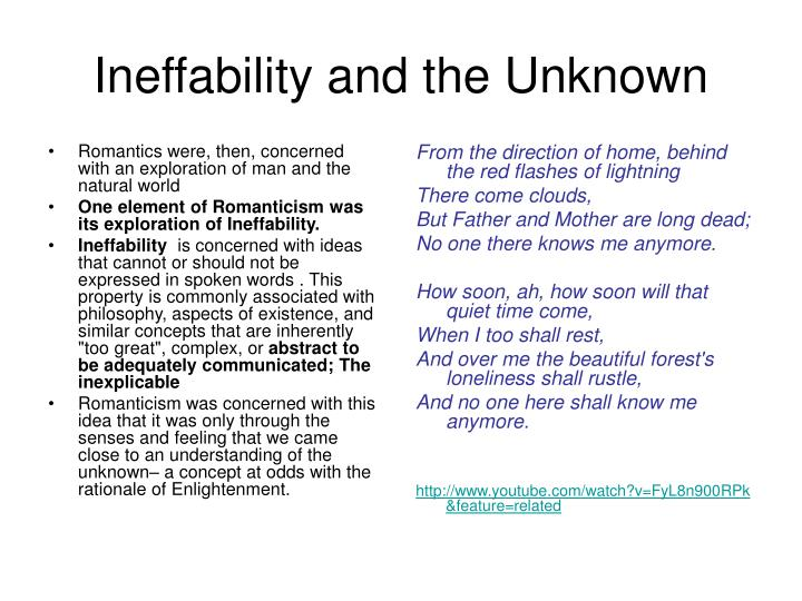 Ineffability and the Unknown