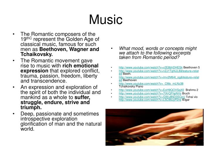 The Romantic composers of the 19