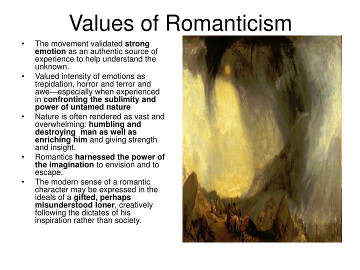 Values of Romanticism