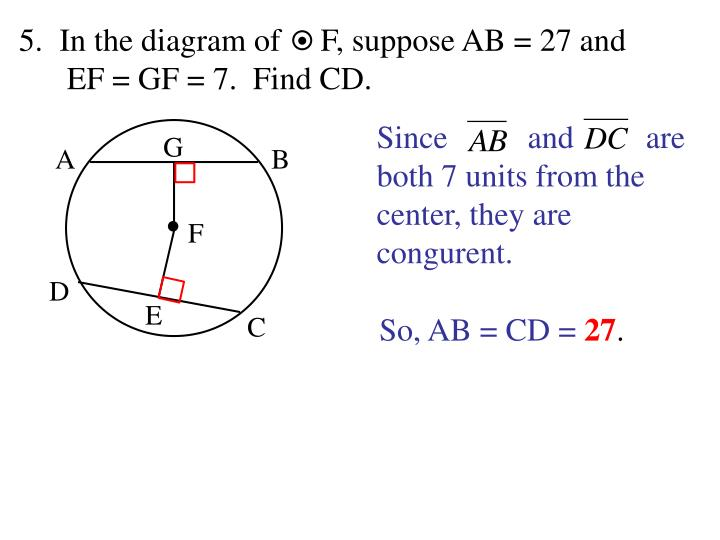 In the diagram of     F, suppose AB = 27 and