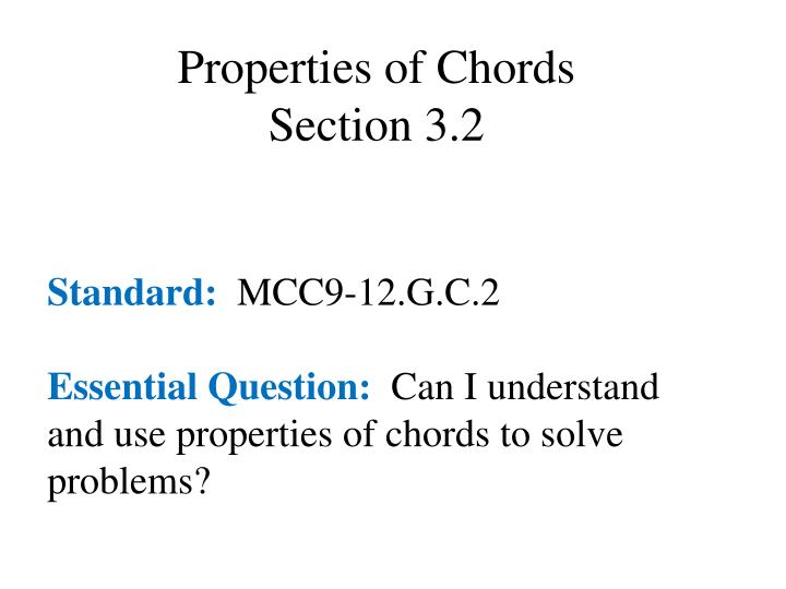 Properties of Chords