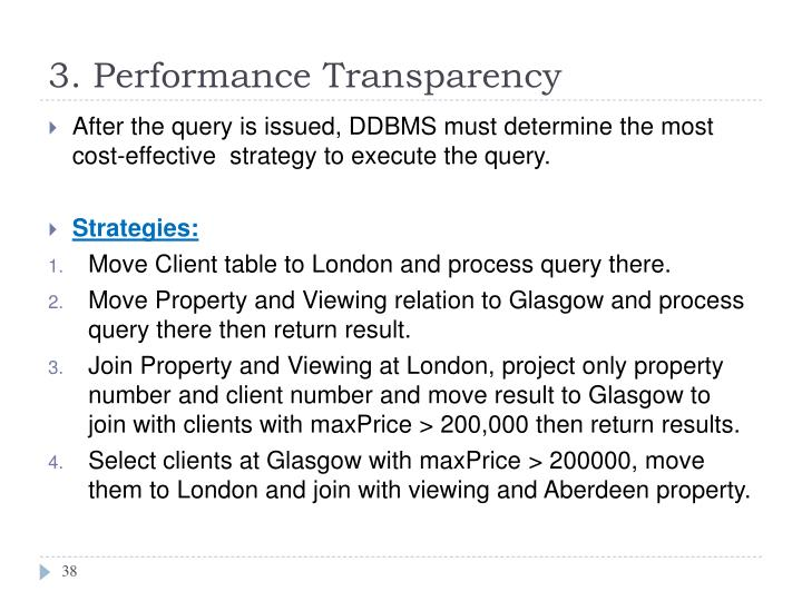 3. Performance Transparency