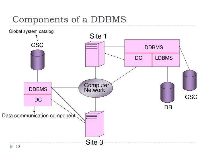 Components of a DDBMS
