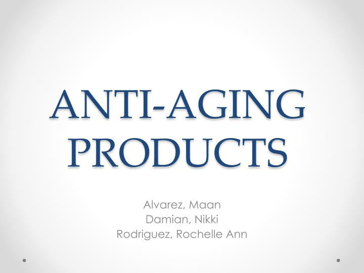 anti aging products n.