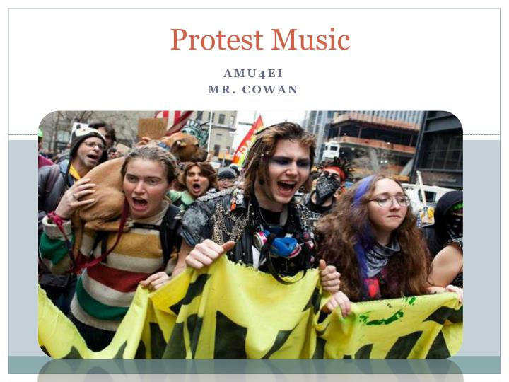 protest music n.