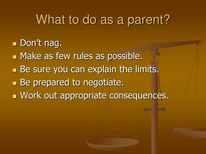 What to do as a parent?