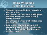 using wikipedia in the classroom
