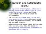discussion and conclusions cont