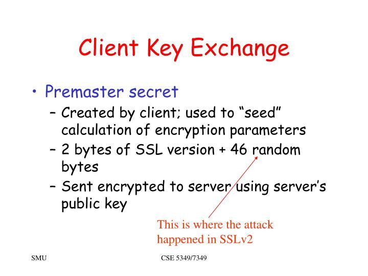 Client Key Exchange