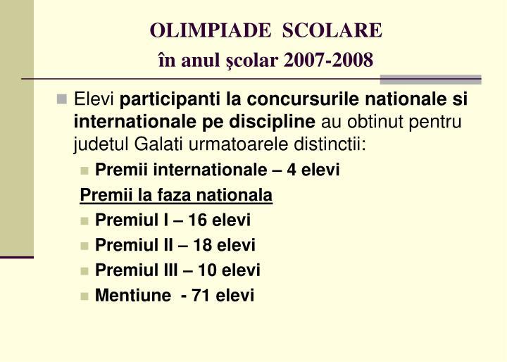 OLIMPIADE  SCOLARE