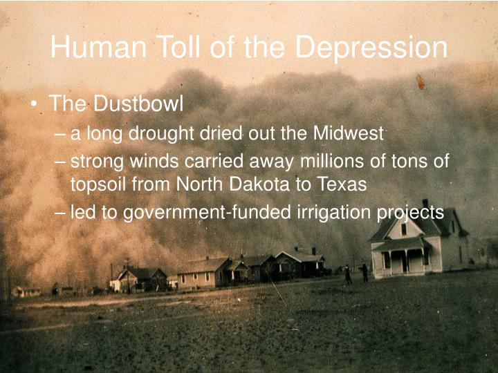 Human Toll of the Depression
