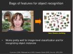 bags of features for object recognition