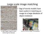 large scale image matching